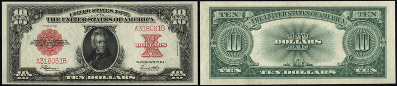 Series 1923 $10 Legal Tender Poker chip note