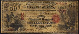 Wickford National Bank, Wickford (1592) Fifty Dollar Bill Original Series