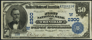 First National Bank of Crown Point (2183) Fifty Dollar Bill Series 1902 Blue Seal