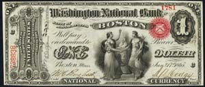 State National Bank of Springfield (1733) One Dollar Bill Original Series