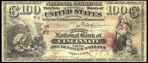 City National Bank of Worcester (476) Hundred Dollar Bill Original Series