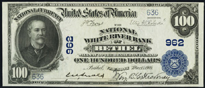 First National Bank of Lewiston (2972) Hundred Dollar Bill Series 1902 Blue Seal