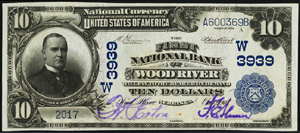 First National Bank of Saint Paris (2488) Ten Dollar Bill Series 1902 Blue Seal