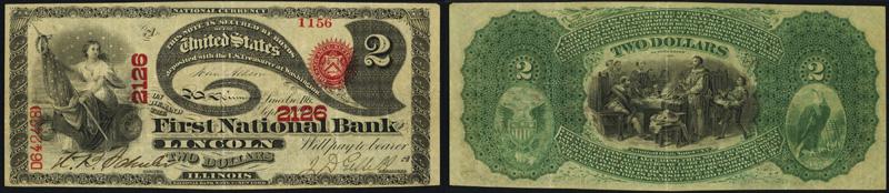 1863 $2.00 Lazy Deuce