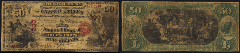 1863 $50.00 National Currency Bank Note