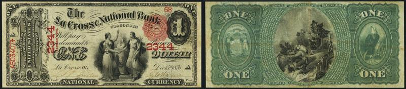 1875 $1.00 Original Series Ace