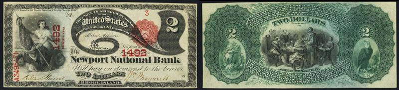 1875 $2.00 Lazy Deuce