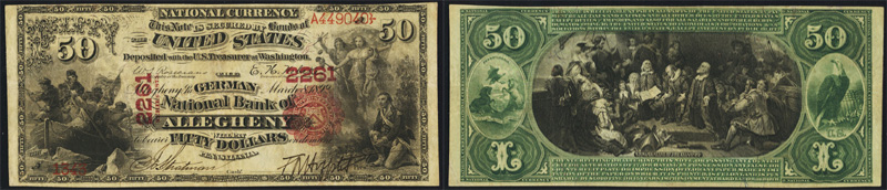 1875 $50.00 National Currency Bank Note