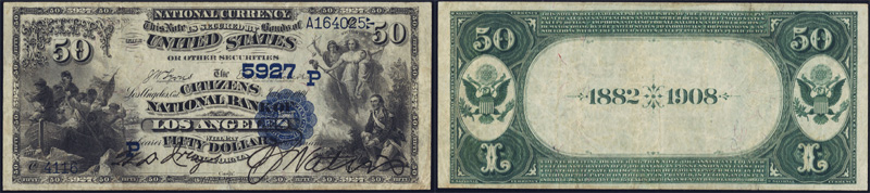 1882 $50.00 Date Back