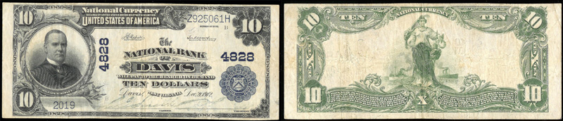 Series 1902 $10.00 Blue Seal National Currency