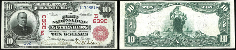 Series 1902 $10.00 Red Seal National Currency