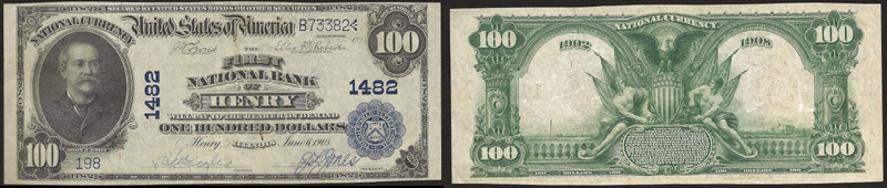 Series 1902 $100.00 Blue Seal National Currency