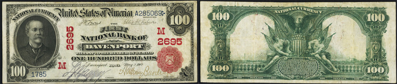 Series 1902 $100.00 Red Seal National Currency