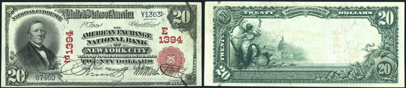 Series 1902 $20.00 Red Seal National Currency