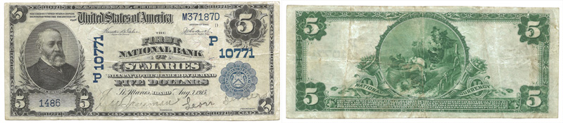 Series 1902 $5.00 Blue Seal National Currency