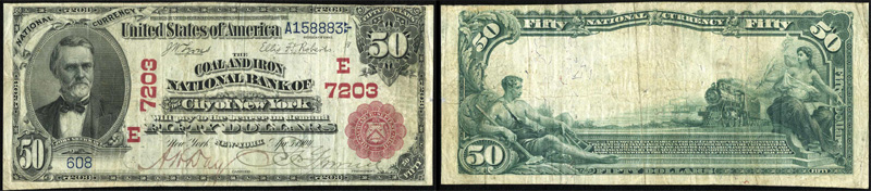 Series 1902 $50.00 Red Seal National Currency