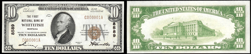 Series 1929 $10.00 small sized national bank note