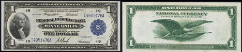 1918 One Dollar Bill Federal Reserve Bank Note