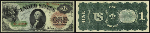 1869 One Dollar Bill Legal Tender Note
