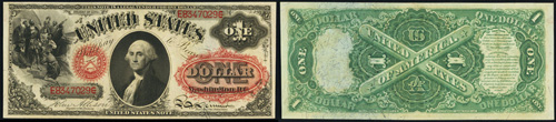 1874 One Dollar Bill Legal Tender Note