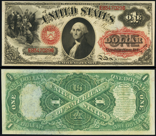 1874 One Dollar Bill Legal Tender