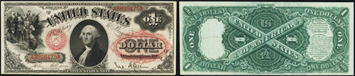 1878 One Dollar Bill Legal Tender Note