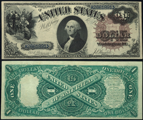 1880 One Dollar Bill Legal Tender