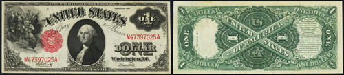 1917 One Dollar Bill Legal Tender Note
