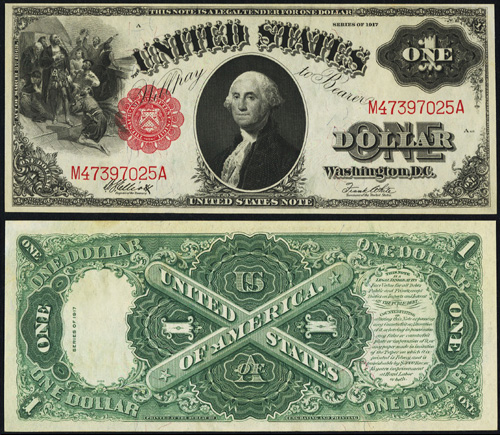 1917 One Dollar Bill Legal Tender