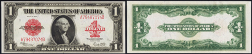 1923 One Dollar Bill Legal Tender Note