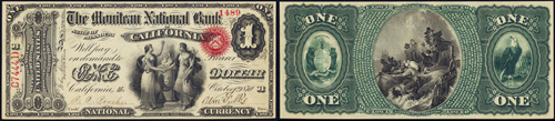 1863 One Dollar Bill National Currency Note