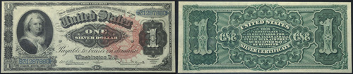 1886 One Dollar Bill Silver Certificate Note