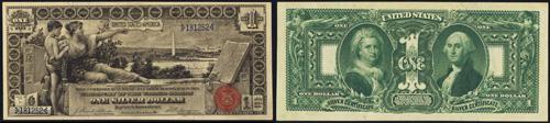 1896 One Dollar Bill Silver Certificate Note