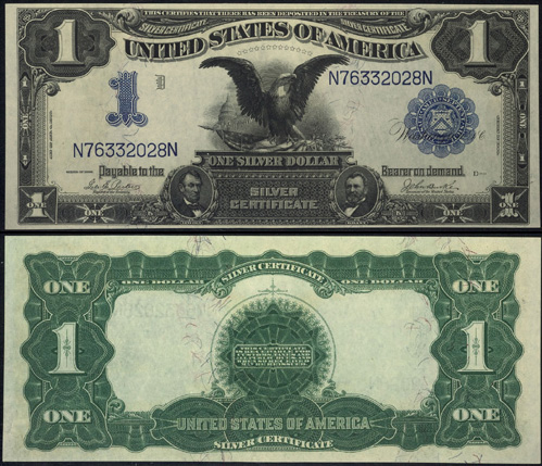 1899 One Dollar Bill Silver Certificate