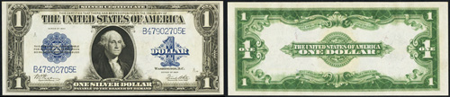 1923 One Dollar Bill Silver Certificate Note