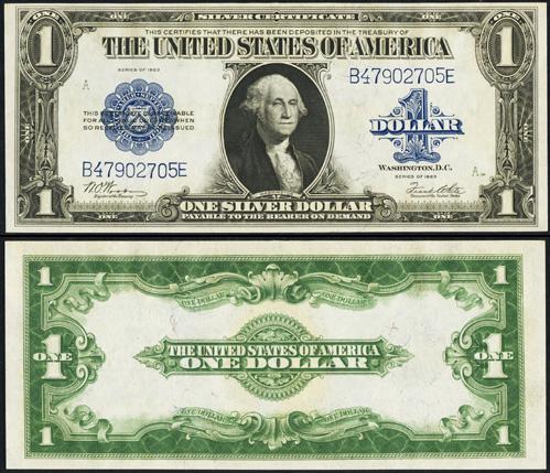 1923 One Dollar Bill Silver Certificate