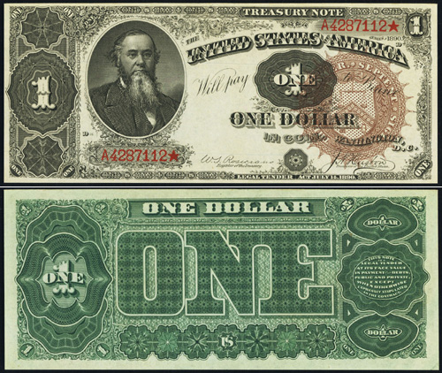1890 One Dollar Bill Treasury Note