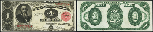 1891 One Dollar Bill Treasury Note