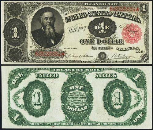 1891 One Dollar Bill Treasury Note