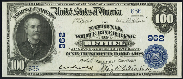 1914 One Hundred Dollar Bill National Currency Note