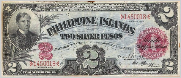 Philippine Series 1903 Two Silver Pesos