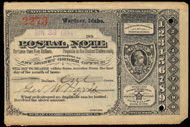 Wardner, Idaho Postal Note