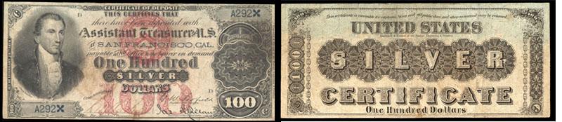 1878 $100 Dollar Silver Certificate