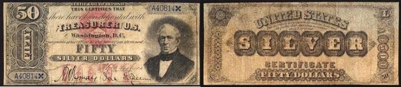 1878 $50 Dollar Silver Certificate