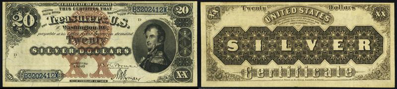 1880 $20 Silver Certificate