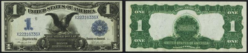 1899 $1.00 Black Eagle Silver Certificate