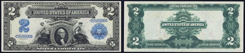 1899 $2.00 Silver Certificate