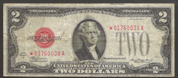 Series 1928-C $2.00 Legal Tender Star Note