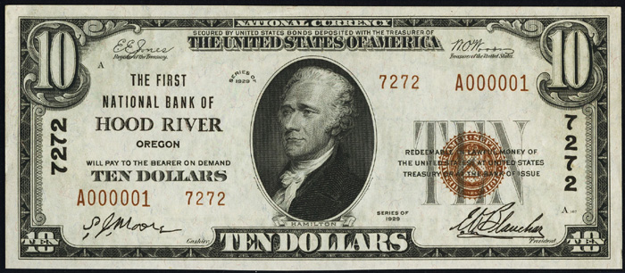 1929 Ten Dollar Bill National Currency Note Type 2