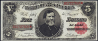 Treasury Note Series 1891 $5.00